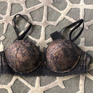 Charcoal and nude Victoria Secret multi way bra